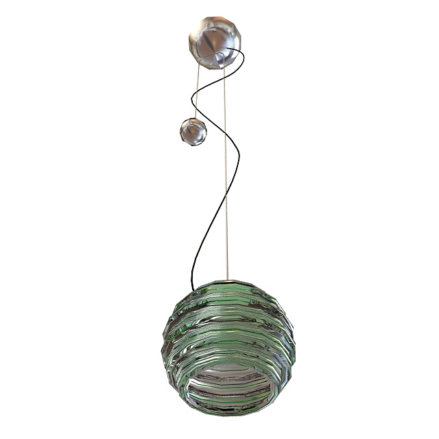 Glazed hanging lamp 3d rendering