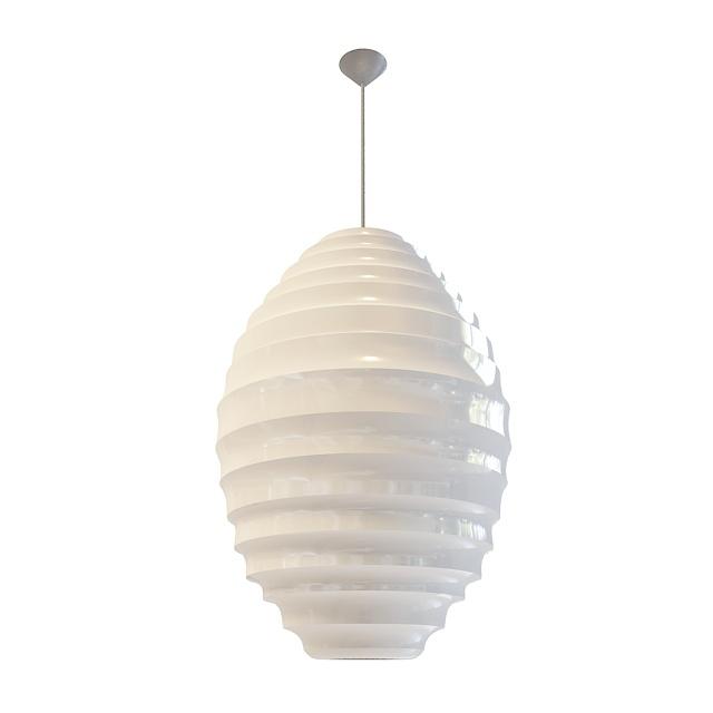 Elliptical pendant light 3d rendering