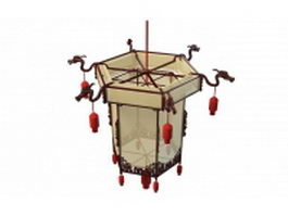 Chinese lantern light fixture 3d preview