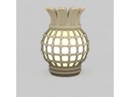 Decorative urn floor lamp 3d preview