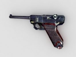 Mauser military pistol 3d model preview