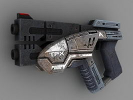 Sci-Fi Pistol concept 3d preview