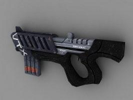 Sci-Fi Submachine Gun Concept 3d preview