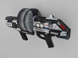 Sci Fi Machine gun 3d preview
