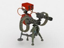 Sci-Fi heavy machine gun 3d model preview