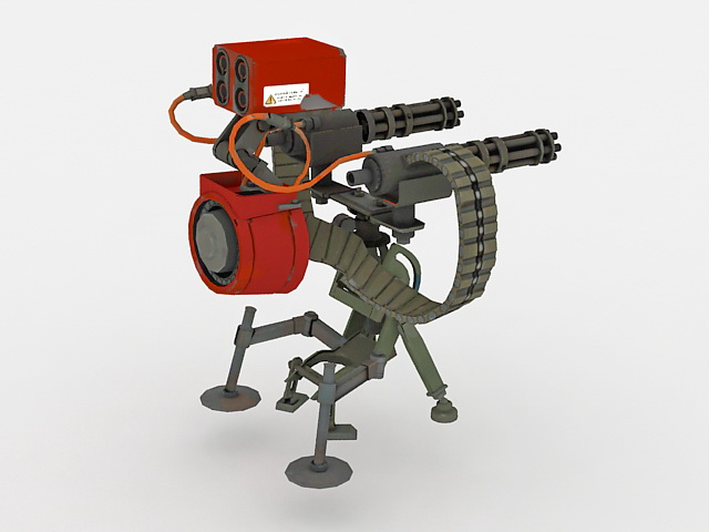 Sci-Fi heavy machine gun 3d rendering