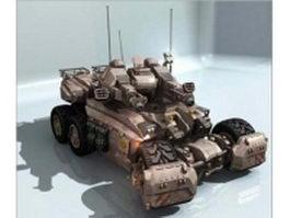 SCI-FI battle tank 3d model preview