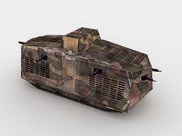 WW1 Germany A7V tank 3d model preview
