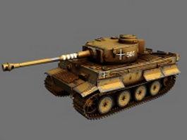 WW2 Nazi Germany Tiger tank 3d model preview