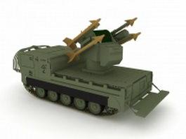 M730 missile launcher 3d model preview
