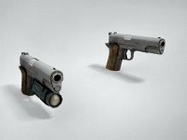 M1911 pistols 3d model preview