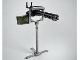 M134 Minigun 3d model preview