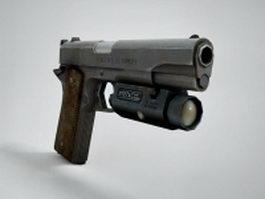 1911 Semi-Automatic Pistol 3d model preview
