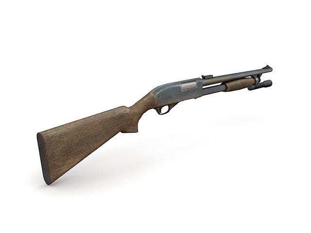 Police shotgun 3d rendering