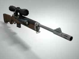 Mini-14 rifle 3d model preview