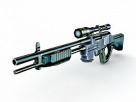 CrossFire Rifle 3d model preview