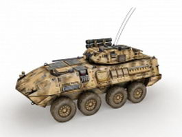 Armoured personnel carrier(APC) 3d model preview