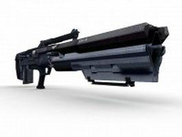 Gauss rifle concept 3d preview
