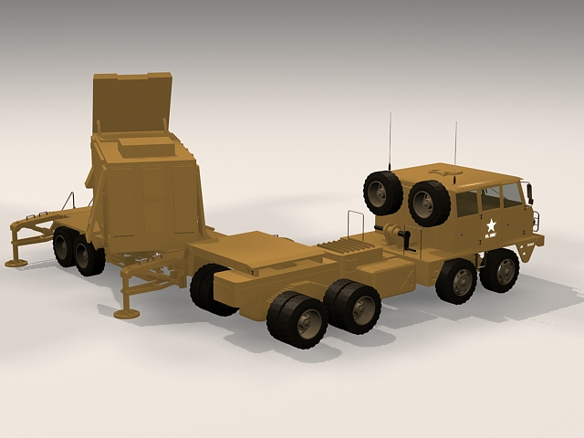 Patriot radar system 3d rendering