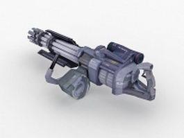 Sci-Fi Minigun 3d preview