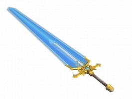 Magic sword 3d model preview