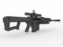 Anti-materiel rifle 3d model preview