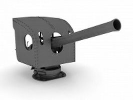 Shipboard anti-aircraft artillery 3d model preview