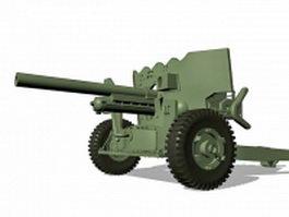 Field artillery 3d model preview