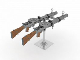 Grenade launcher 3d model preview