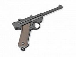 Semi-automatic pistol 3d model preview