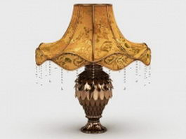 French antique table lamp 3d preview