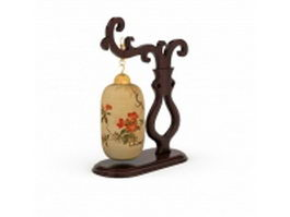 Antique Chinese table lamp 3d preview