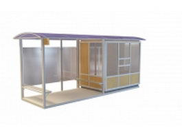 Bus transit shelter 3d preview