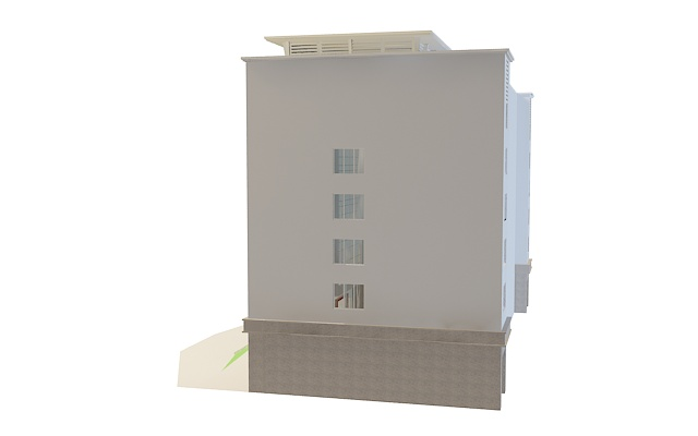 Office building architecture 3d rendering