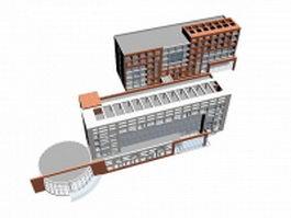 Office building complex 3d preview