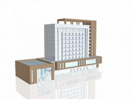 Business office building 3d preview