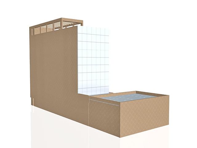 Business office building 3d rendering