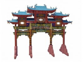 Chinese Paifang 3d preview