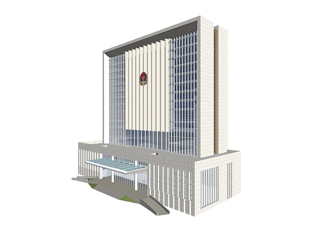 Court building in China 3d rendering