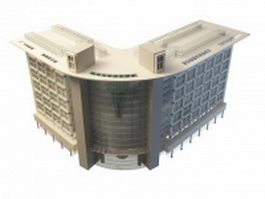 Department store architecture 3d preview