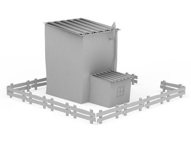 Grange house 3d rendering