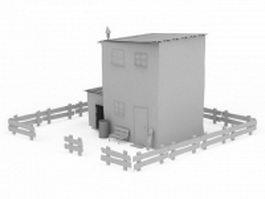 Grange house 3d model preview