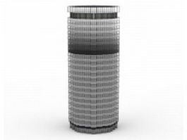 Cylinder-shaped building 3d preview