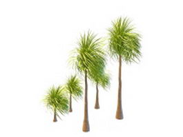 Landscaping palm tree 3d model preview