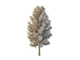 Artificial tree design 3d preview