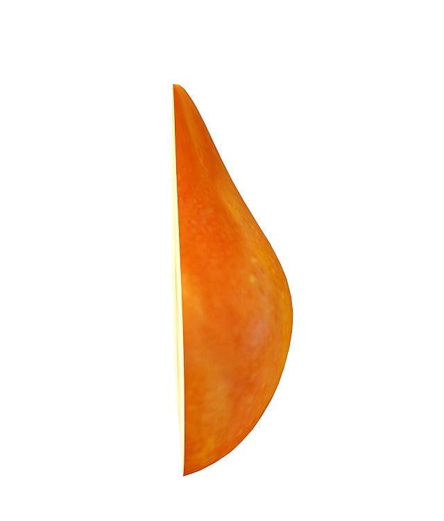 Half cut pear 3d rendering