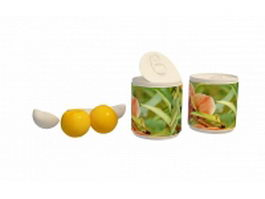 Canned peach halves 3d preview
