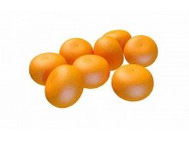 Mandarin orange 3d preview