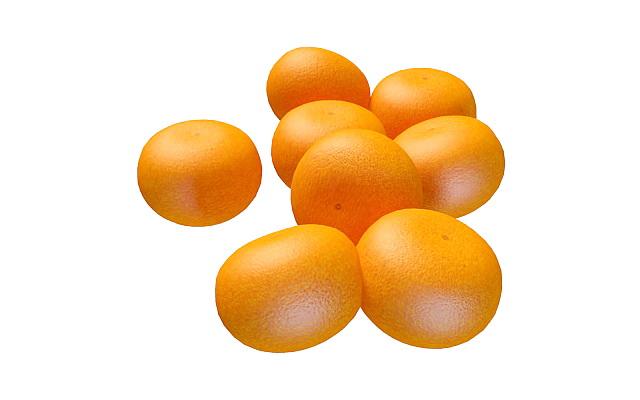 Mandarin orange 3d rendering