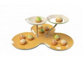 Cupcake holder dessert stand 3d preview